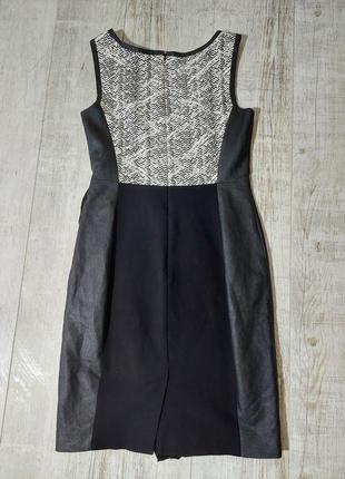 Комбинированое платье черное коданое karen millen3 фото