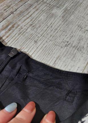 Комбинированое платье черное коданое karen millen7 фото