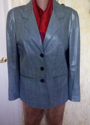Куртка  100 % кожа с тиснением под питона жакет куртка кожаная куртка