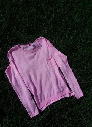 Свитер кофта вязка розовая h&m