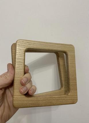Ручка для сумки, деревянная, натуральная
