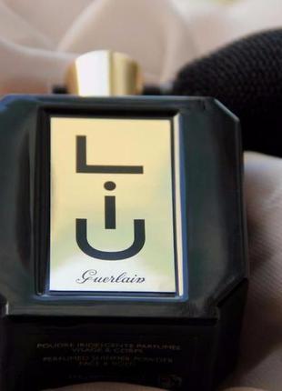 Guerlain liu парфюмированная блестящая пудра-спрей для лица и тела