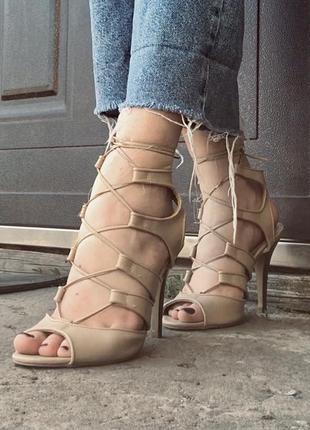 Туфли на шнуровке guess на шпильке (лимитированная коллекция)3 фото