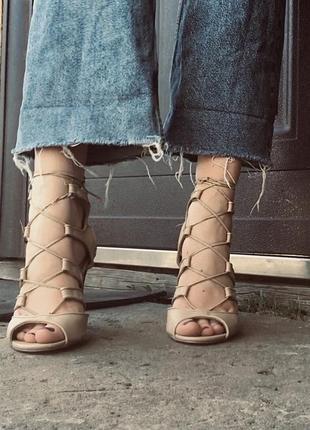 Туфли на шнуровке guess на шпильке (лимитированная коллекция)4 фото