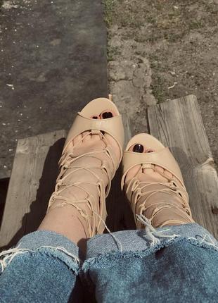 Туфли на шнуровке guess на шпильке (лимитированная коллекция)2 фото