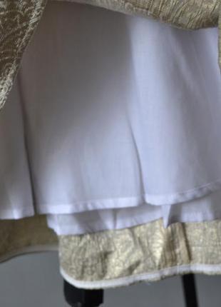 Элегантная золотистая юбка tara jarmon франция5 фото