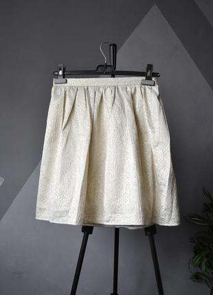 Элегантная золотистая юбка tara jarmon франция2 фото