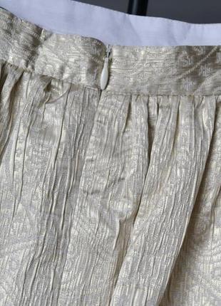 Элегантная золотистая юбка tara jarmon франция6 фото