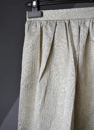 Элегантная золотистая юбка tara jarmon франция3 фото