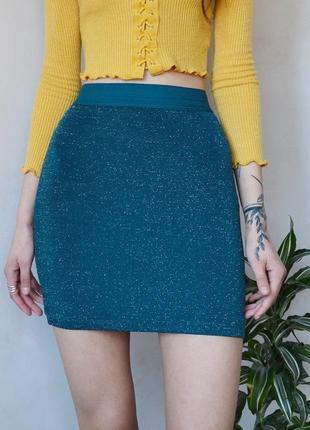 Короткая юбка с люрексом amisu