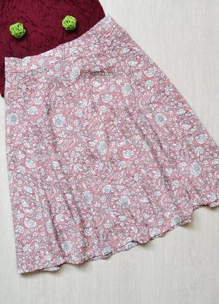 Красивая расклешенная юбка в цветочный принт zebra2 фото