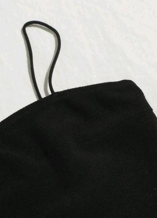 New!! новый топ черный укороченный на тонких брытелях2 фото