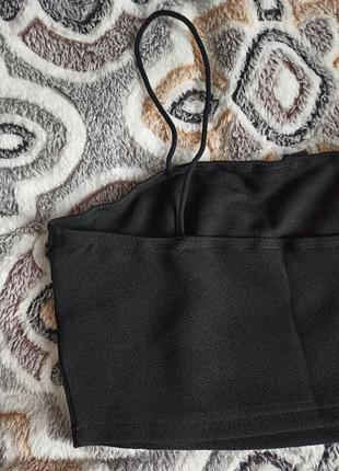 New!! новый топ черный укороченный на тонких брытелях3 фото