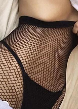 Колготы женские сетка чёрные
