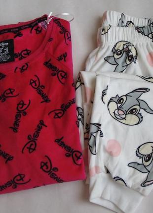 Пижама домашний костюм велюр primark хс 6-8