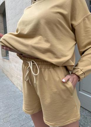 Женский костюм с шортами двойка2 фото