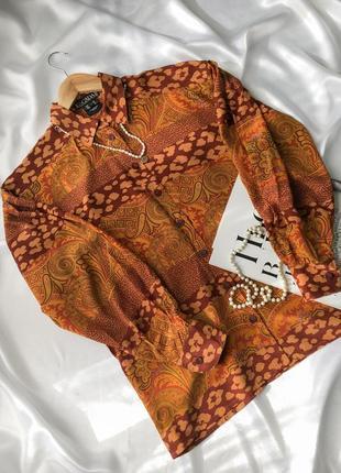 Рубашка винтажная шёлковая escada люкс блуза брендовая шёлк с объемными рукавами