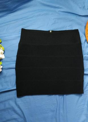 Черная юбка-мини