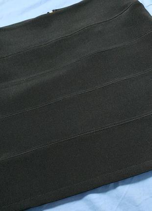 Черная юбка-мини2 фото