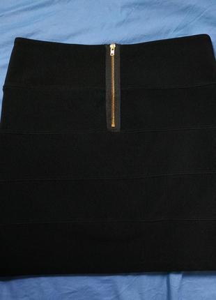 Черная юбка-мини3 фото