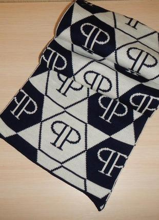 Двухсторонний шарф plein шерсть эластан