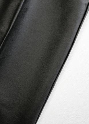 Трендовые широкие брюки палаццо трубы с ващеным покрытием5 фото
