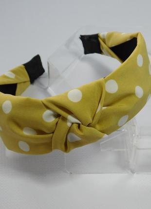 Обруч-чалма горох, колір жовтий