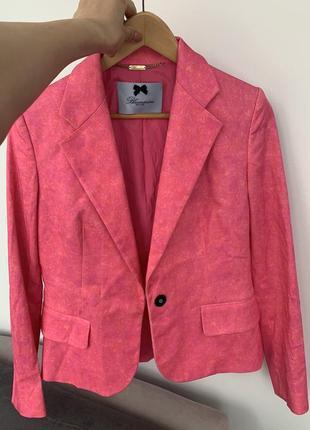 Пиджак blumarine ярко-розовый