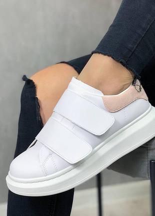 Кроссовки кеды женские на липучках5 фото