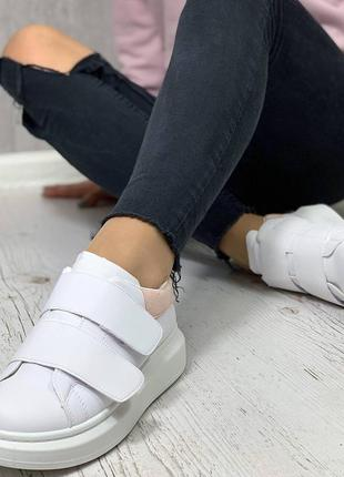 Кроссовки кеды женские на липучках4 фото