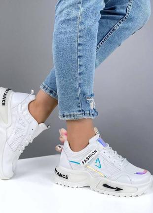 Женские кроссовки белые весенние