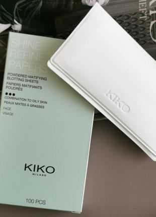 Матирующие салфетки shine refine kiko