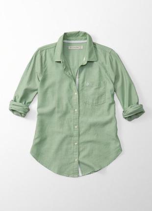 Зеленая рубашка abercrombie & fitch3 фото