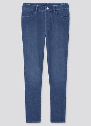Новые с биркой uniqlo ultra stretch denim leggings xs 25 лосины леггинсы деним