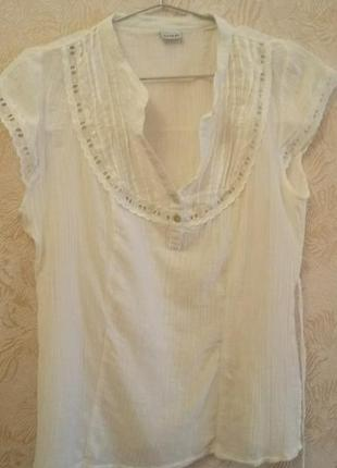 Белая летняя блуза 14р