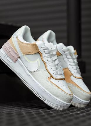 Nike air force 1 shadow  white grey brown