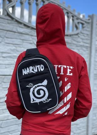 Наруто/naruto сумка через плечо, слимбоди, бананка для ключей, телефона, мелких вещей