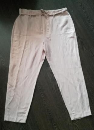 Крутые натуральные пудровые брюки на лето, 20 размер евро