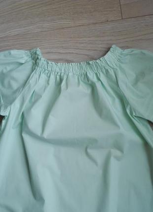 Красивое летнее мятное платье с открытыми плечами, р.м3 фото