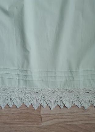Красивое летнее мятное платье с открытыми плечами, р.м4 фото