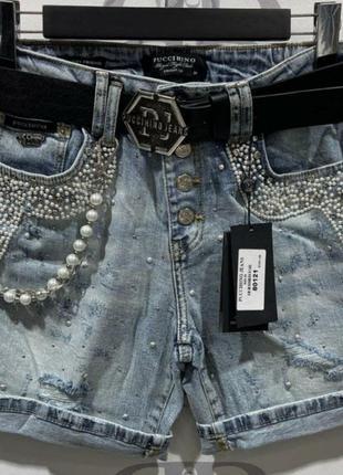 Брендовые джинсовые шорты, люкс качество, размер 30.