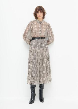 Роскошное шифоновое платье миди