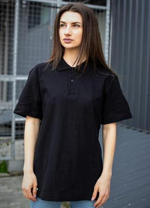 New sale without хлопковое поло черного цвета для девушек without