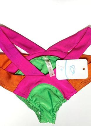 Яскравий неоновий жіночий купальник2 фото