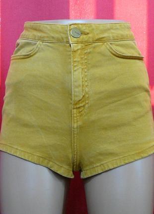 Короткие джинсовые шорты с высокой посадкой topshop