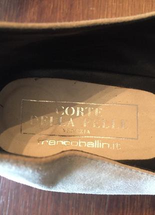 Легкие замшевые  туфли ballin 41 р ( 27 см).4 фото