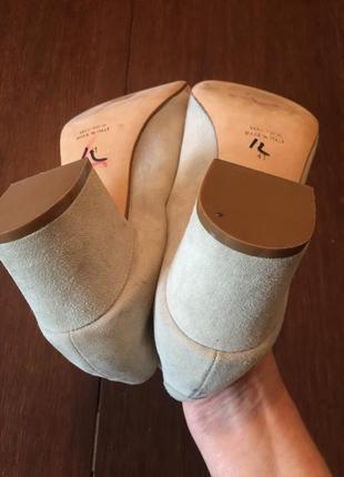 Легкие замшевые  туфли ballin 41 р ( 27 см).9 фото