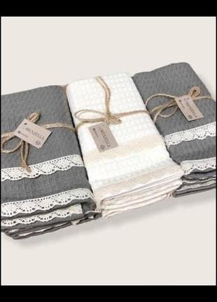 Комплект вафельных полотенец