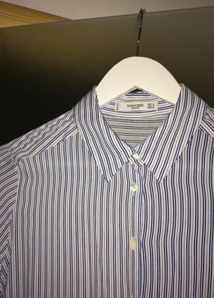 Стильна полосата сорочка mango2 фото