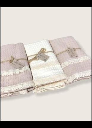 Комплект вафельних полотенець